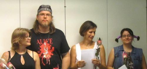 Nova-voittajia: Vasemmalla Anu ja Eero Korpinen. (kuva: Magdalena Hai)