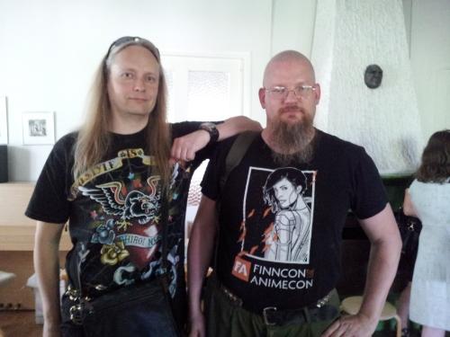 Kuvassa Tero Ykspetäjä, joka aikanaan tutustutti minut laajempaan fandomiin Viikinsaaren kesäretkellä 1996. (kuva: Anne Leinonen)