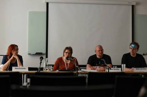 Finnish horror panel. At 10 am it really was. (Photo credit: Henry Söderlund)