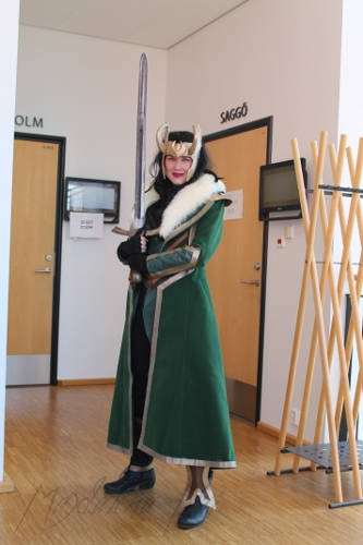 Now I realize I can blame all my stacks of books on Loki! She made me do it. (Photo credit: Magdalena Hai)