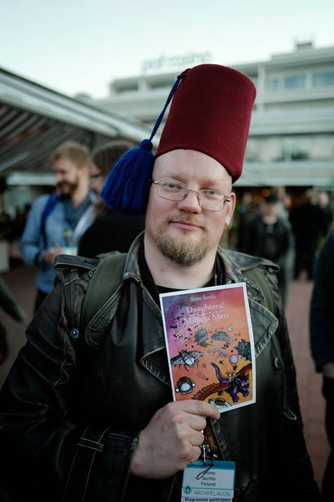 Would you buy a booklet from this man? In fact, did you? (Photo credit: Henry Söderlund)