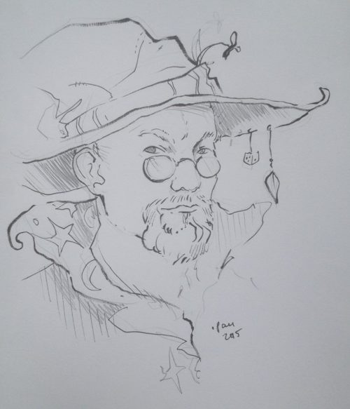 Wizard me this. (Sketch by Pau Norontaus)